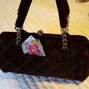 NWT Vera Bradley chain link handbag Espresso